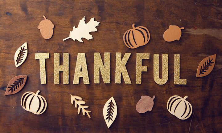 GIVING AWAY THANKFULNESS